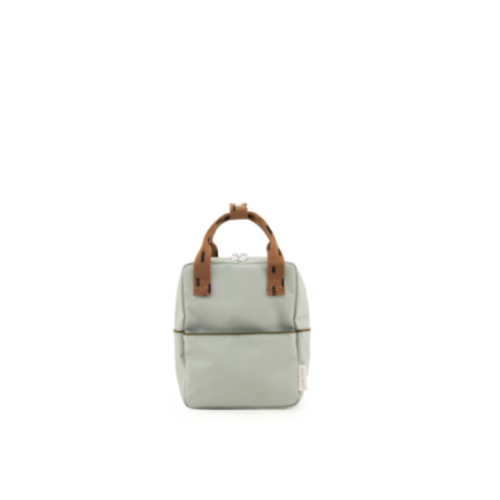 1801529 - Sticky Lemon - backpack small - sprinkles - sage green _ cinnamon brown - front