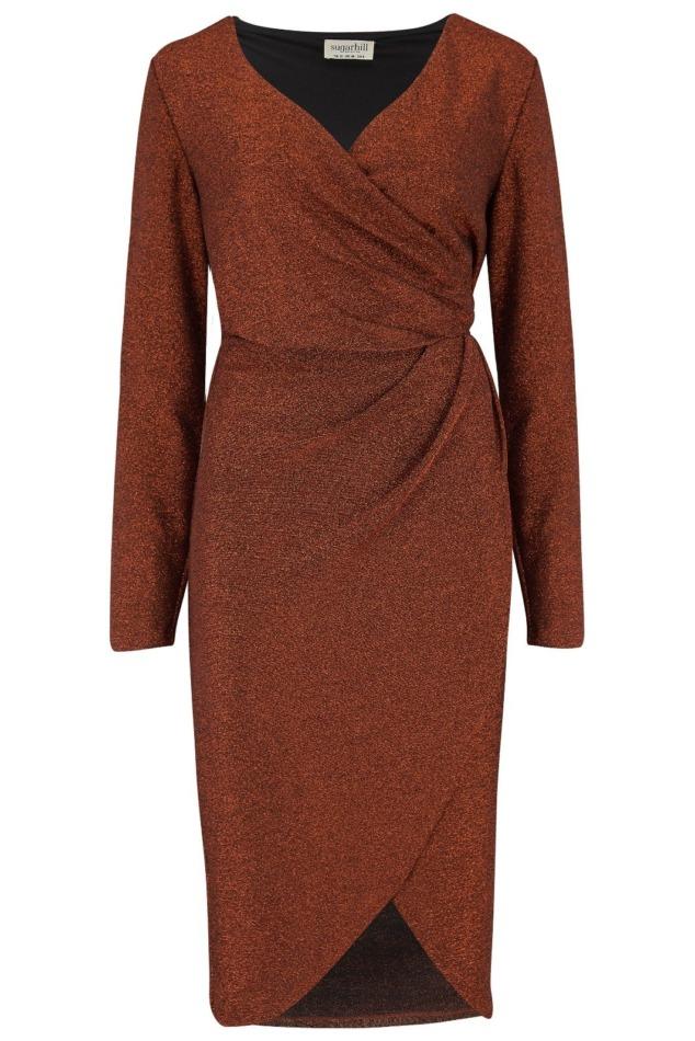 Duana Sparkle Wrap Dress