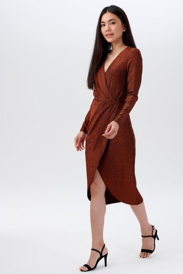 Duana Sparkle Wrap Dress2