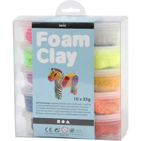 Foam Clay®, Diverse Kleuren, 35 gr, 10 Doosje 1