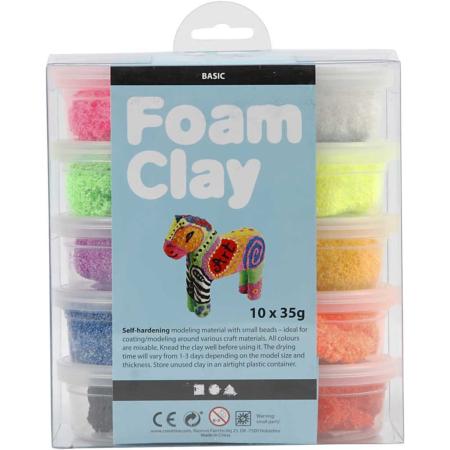 Foam Clay®, Diverse Kleuren, 35 gr, 10 Doosje2