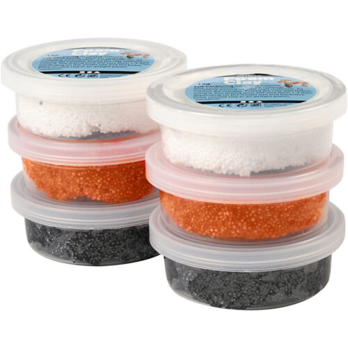 Foam Clay®, Oranje,glow In The Dark,zwart, 14 gr, 6 Doosje