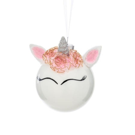 unicorn with crown bauble
