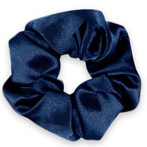 Scrunchies haarelastiek Silky Deep blue