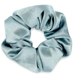 Scrunchies haarelastiek silky Allure blue grey