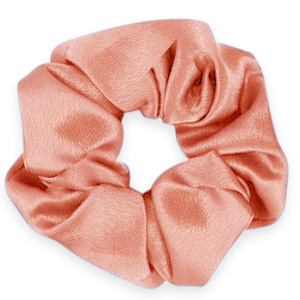 Scrunchies haarelastiek silky Flirty flamingo rose