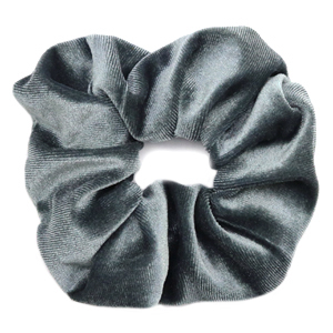 Scrunchies haarelastiek velvet Grey