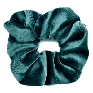 Scrunchies haarelastiek velvet Petrol green