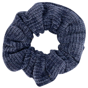 Scrunchies haarelastiek corduroy denim blue