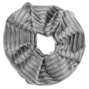 Scrunchies haarelastiek met streepjes velvet Grey