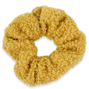 Scrunchies haarelastiek teddy Golden ochre