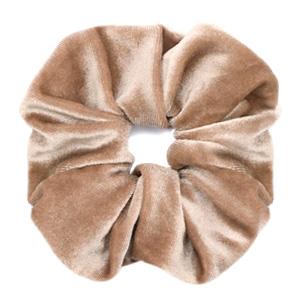 Scrunchies haarelastiek velvet Light brown