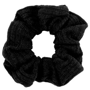 Scrunchies haarelastiek woven Black