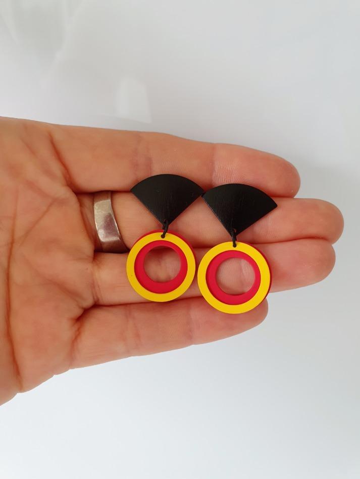 België tricolor oorbellen 03