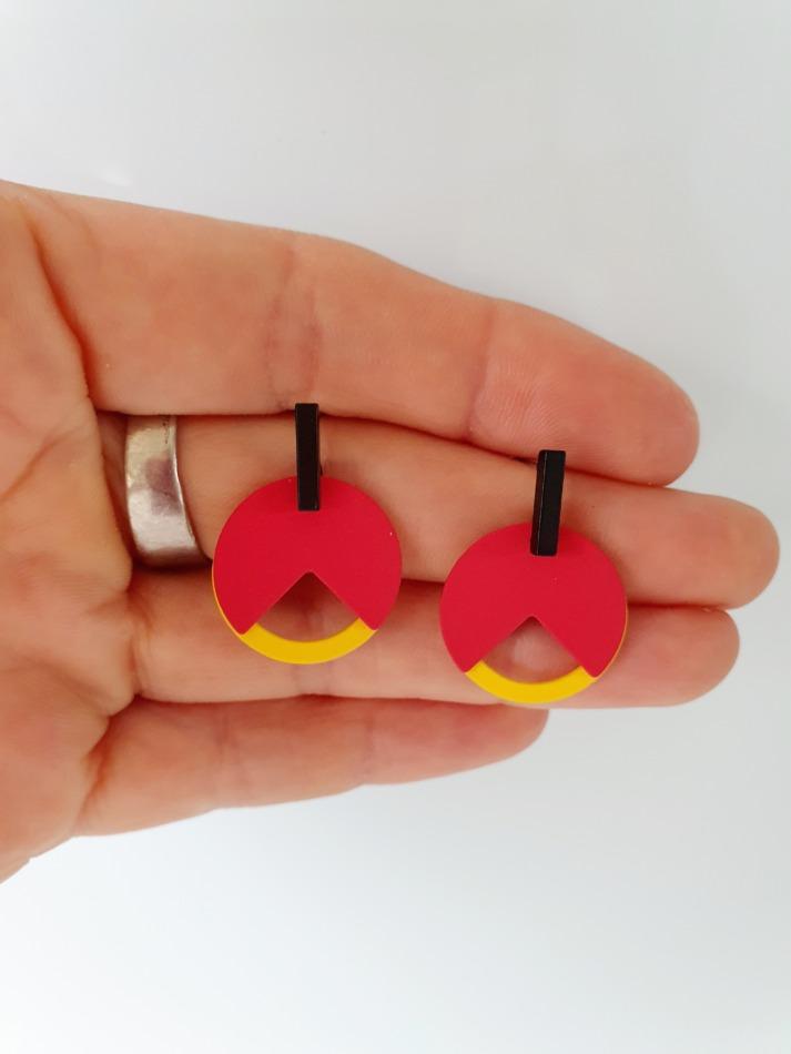 België tricolor oorbellen 04