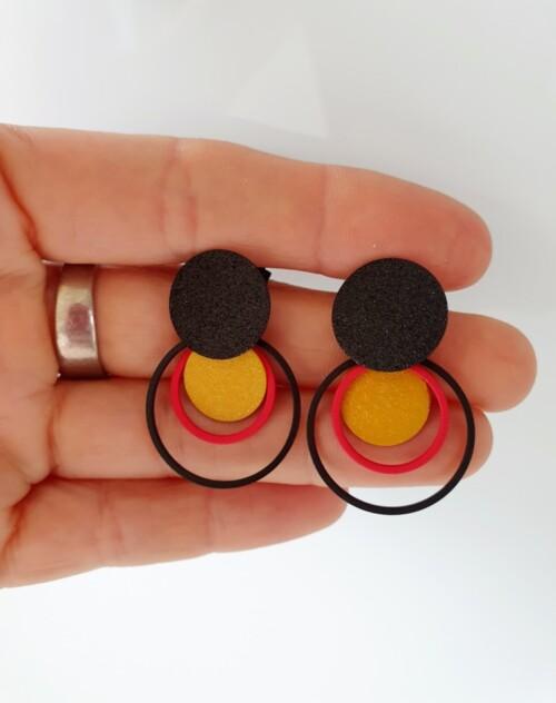 België tricolor oorbellen 02