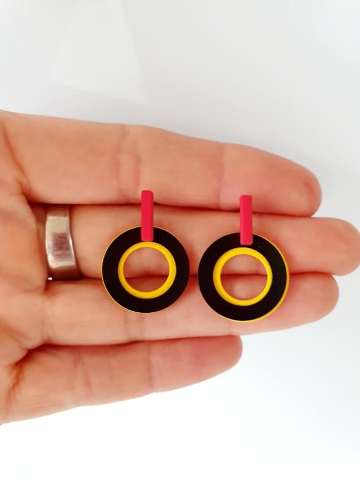 België tricolor oorbellen 01