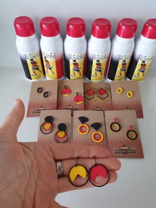 Oorbellen - België tricolor oorbellen