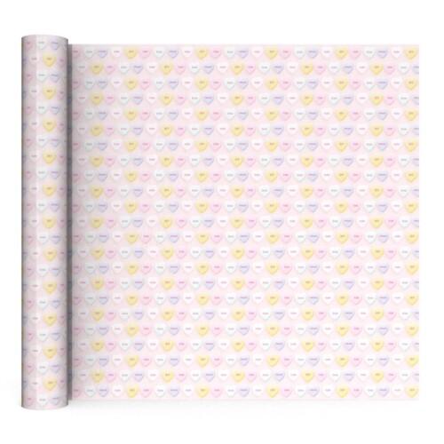 Pastel kaftpapier met hartjes