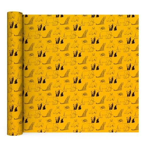 Geel kaftpapier met dieren