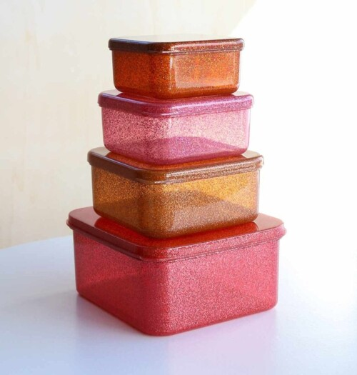 Lunch & snack box set Autumn pink3