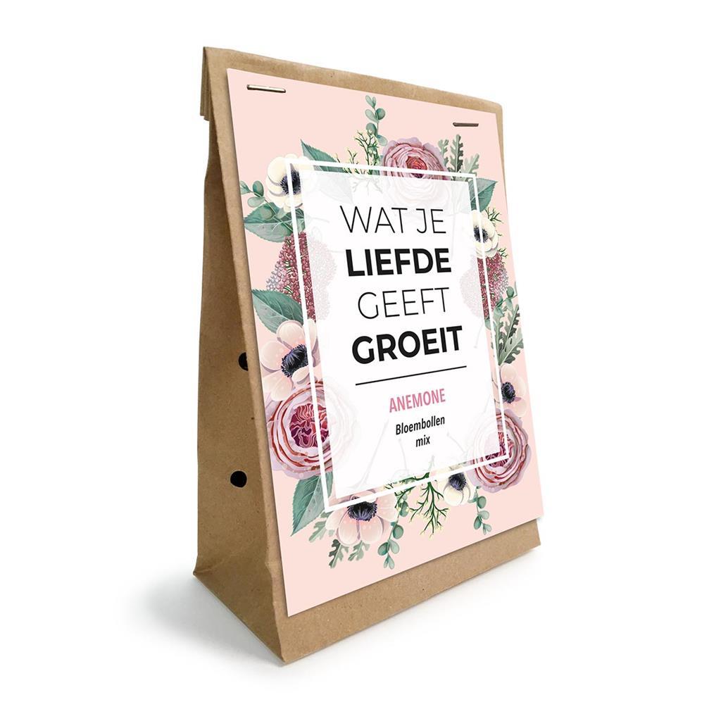 Groei en Bloei - Wat je liefde geeft groeit Anemoon bloembollen mix