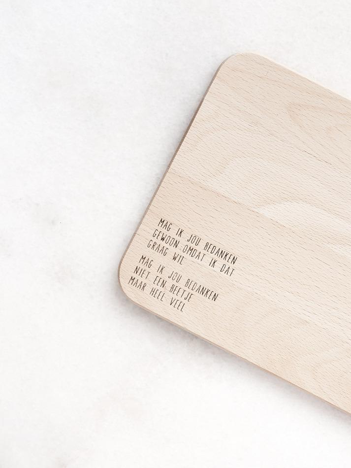 Houten serveerplankje - Mag ik jou bedanken (1)