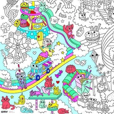 Omy reuze kawaii poster om in te kleuren 1