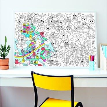 Omy reuze kawaii poster om in te kleuren 2