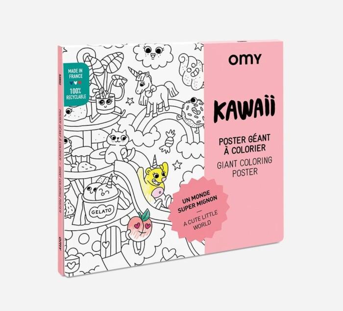 Omy reuze kawaii poster om in te kleuren