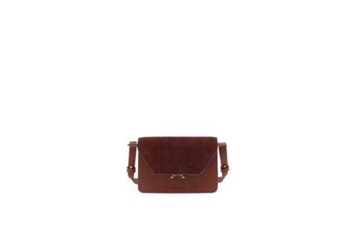 Handtas - Sticky Sis Club - Fig red + wine red - front