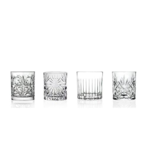 Mixology set van 4 cocktail of Whiskey glazen1