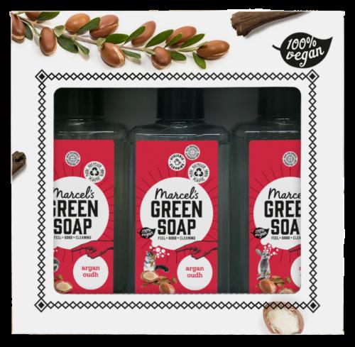 Giftset Marcels green Soap - argan en oudh