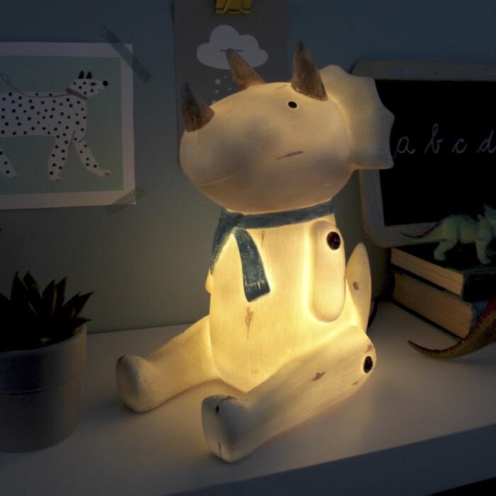 Nachtlampje dinosaurus - Zittende triceratops (3)